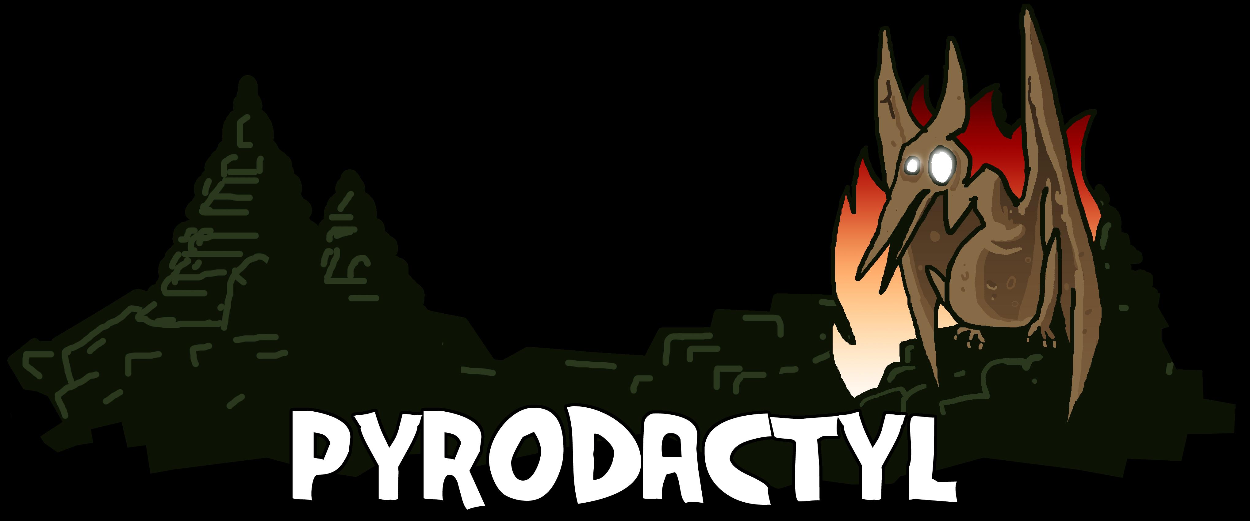 Pyrodactyl Logo, Landscape
